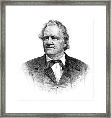 Joshua Reed Giddings (1795-1864). American Legislator. Line And Stipple Engraving Framed Print by Granger