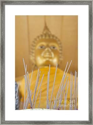 Joss Sticks Framed Print by Roberto Morgenthaler