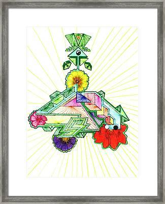 Journey Of Light Framed Print by Harry Richards