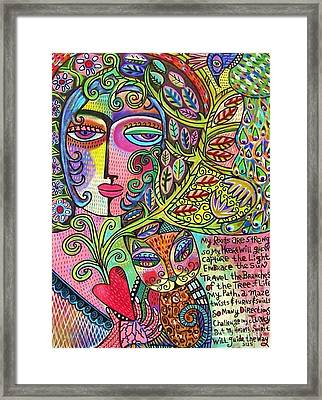 Journey Of The Heart Framed Print by Sandra Silberzweig