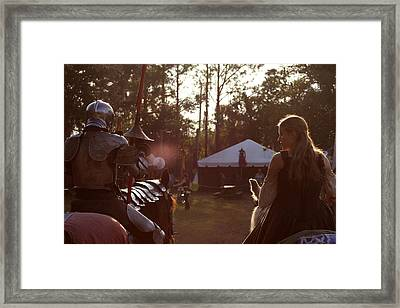 Joust One Knight Framed Print by Sean Green