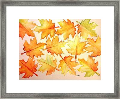 Joy Of Fall Framed Print by Jessica Aviles