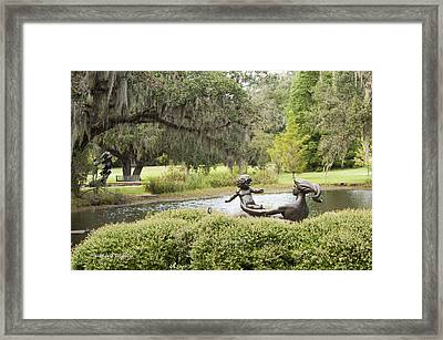 Joy Of Motherhood Willard Hirsch Brookgreen Gardens  South Carolina Framed Print by Jonathan Whichard