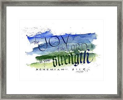 Joy Strength I Framed Print