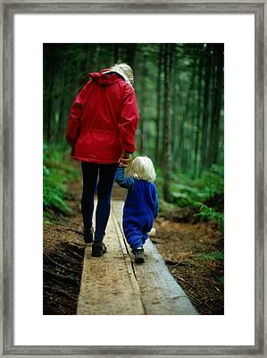 Joy Tessman Walks Along Framed Print by Barry Tessman