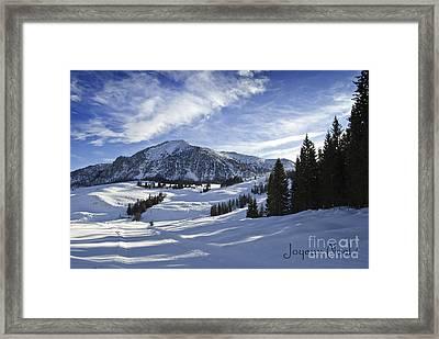 Joyeux Noel Austria Europe Framed Print by Sabine Jacobs