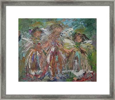 Joyful Chorus Framed Print by Kathy  Cuiffi