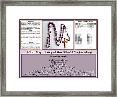 Joyful Mysteries Framed Print by Barbara Griffin