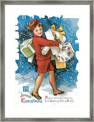 Joyous Christmas Framed Print by Unknown
