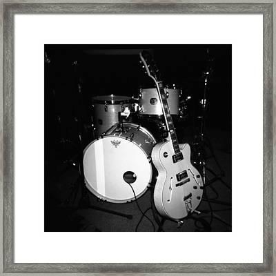 Jp Soars Guitar And Drum Kit Framed Print by Kathy Hunt