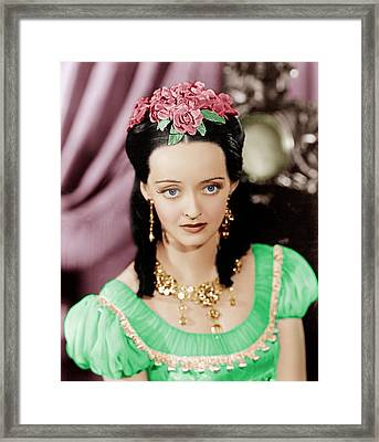 Juarez, Bette Davis, 1939 Framed Print