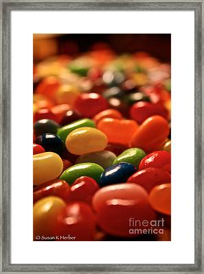 Jubilant Jelly Beans Framed Print by Susan Herber