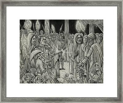 Judas In Garden Framed Print by Vincnt Clark