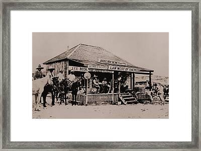 Judge Roy Bean 1825-1903 Framed Print
