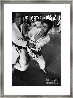 Judo Framed Print by Bernard Wolff