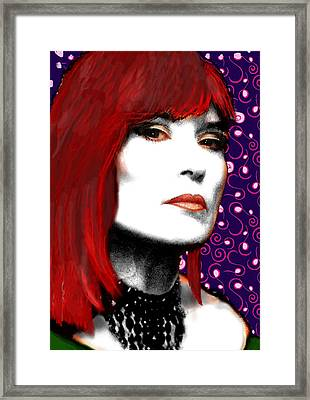 Framed Print featuring the painting Judy Rose by Jann Paxton