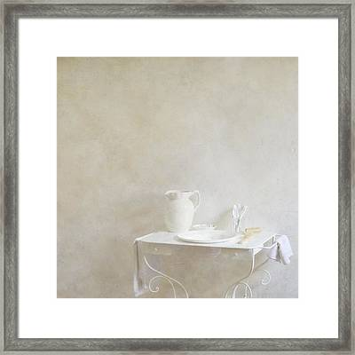 Jug And Bowl Framed Print by Paul Grand Image
