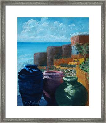 Juju Jars - Cancun Framed Print by Lorraine McFarland