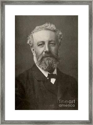 Jules Verne, French Author Framed Print