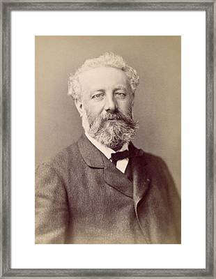 Jules Verne, French Novelist Framed Print by Humanities And Social Sciences Librarynew York Public Library