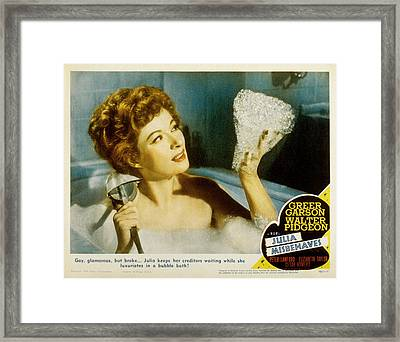 Julia Misbehaves, Greer Garson, 1948 Framed Print