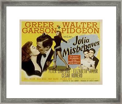 Julia Misbehaves, Greer Garson, Walter Framed Print