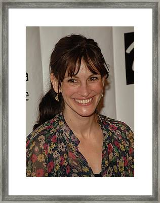 Julia Roberts At Arrivals For Drama Framed Print by Everett