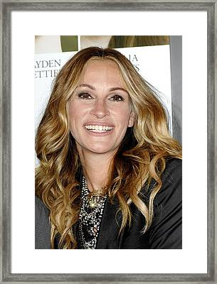 Julia Roberts At Arrivals For Fireflies Framed Print