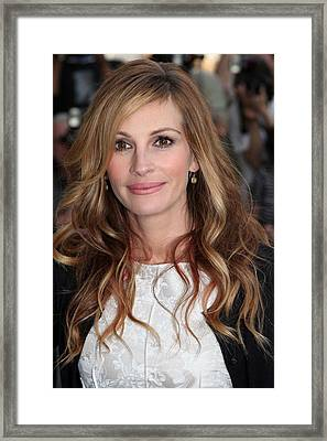 Julia Roberts At Arrivals For The Film Framed Print by Everett