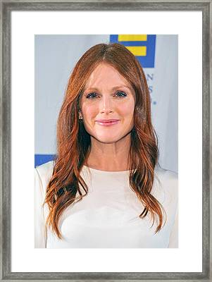 Julianne Moore At Arrivals For No Framed Print by Everett