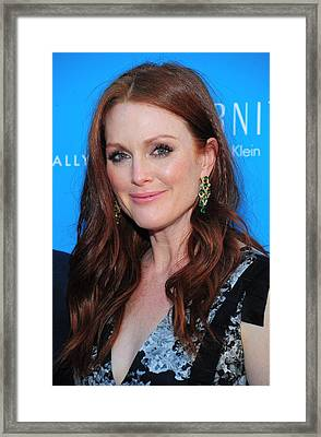 Julianne Moore At Arrivals For The Kids Framed Print by Everett