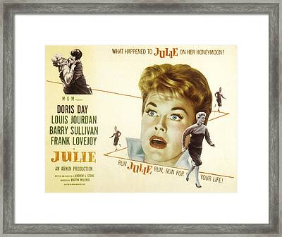 Julie, Louis Jourdan, Doris Day, 1956 Framed Print