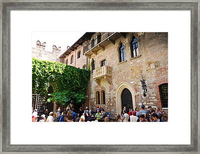 Juliets Balcony Framed Print by Jon Berghoff