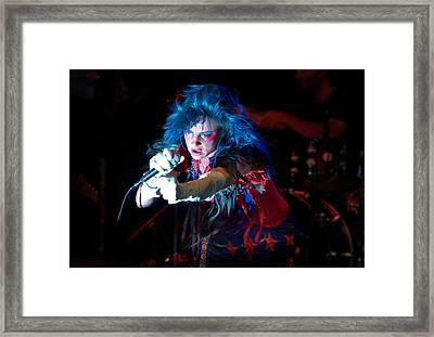 Framed Print featuring the photograph Juliette Lewis by Jeff Ross