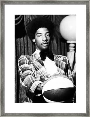 Julius Irving, Ca. 1973 Framed Print by Everett