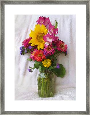 July Bouquet Framed Print