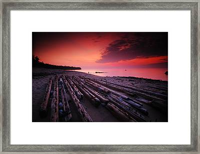 July Fourth Eighteen Eighty Three Shipwreck Framed Print by Mike Thompson