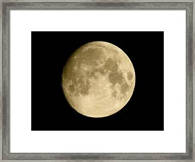 July Moon Framed Print