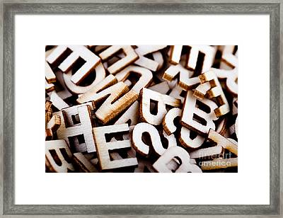 Jumbled Letters Close Up Framed Print by Simon Bratt Photography LRPS