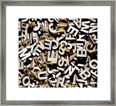 Jumbled Letters Framed Print by Simon Bratt Photography LRPS