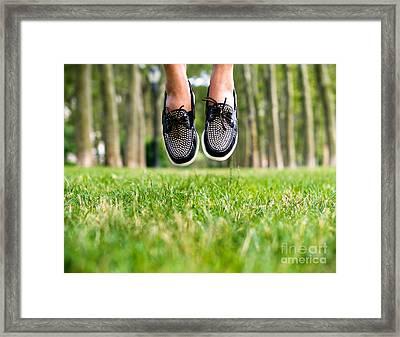 Jump Start  Framed Print by AHcreatrix