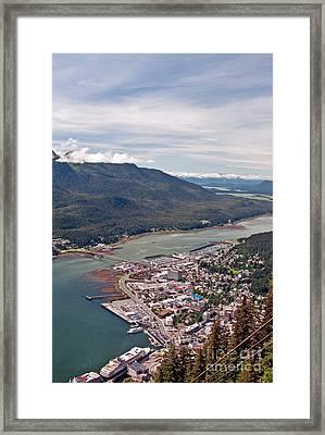 Juneau Alaska View Framed Print by Jim Chamberlain