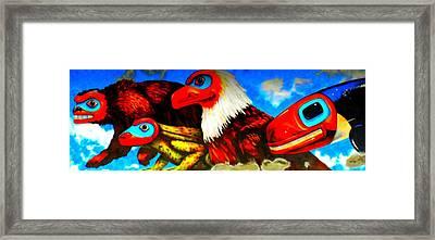 Juneau Mural 2 Framed Print by Randall Weidner