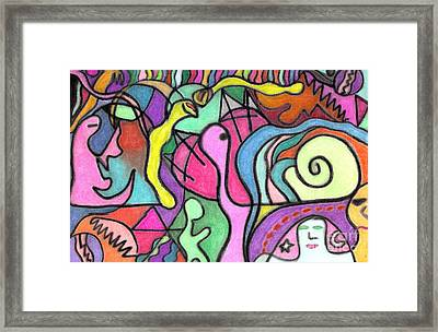 Jungle Creatures Framed Print by Christine Perry
