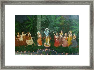 Jungle Gathering Framed Print by Unique Consignment
