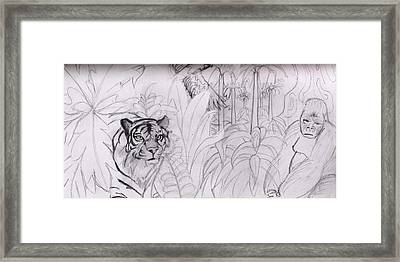 Jungle Lines Framed Print by Diane Peters