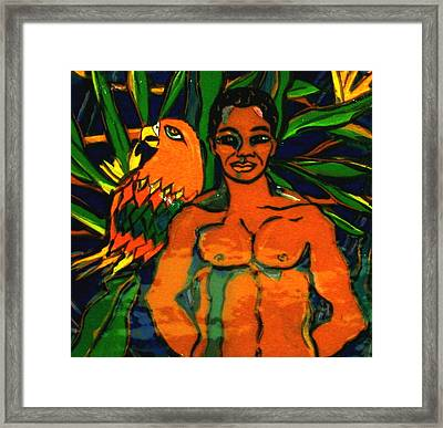 Jungle Pals Framed Print by Patricia Lazar