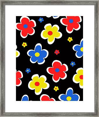 Junior Florals Framed Print by Louisa Knight