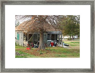 Junk House Framed Print by Ronald Olivier