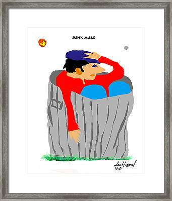 Junk Male Framed Print